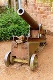La pistola sul territorio del castello a Saarbruecken Immagini Stock Libere da Diritti