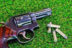 La pistola sull'erba Immagini Stock Libere da Diritti