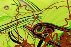 La pittura astratta colora il fondo Fotografie Stock Libere da Diritti