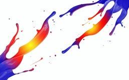 La pittura colorata spruzza isolato su fondo bianco Fotografia Stock Libera da Diritti