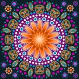 La pittura del punto incontra le mandale 8 Stile aborigeno della pittura del punto Immagini Stock