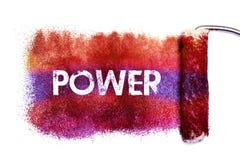 La pittura di parola di potere fotografie stock