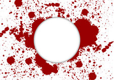 La pittura di vettore schizza il colore rosso con fondo e bianco bianchi Immagine Stock