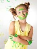 La pittura è divertimento per i bambini Immagini Stock