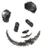 La pittura monocromatica in bianco e nero con acqua e l'inchiostro disegnano l'illustrazione del panda illustrazione vettoriale