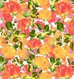 La pittura a olio floreale senza cuciture astratta variopinta dell'acquerello ha strutturato il fondo senza cuciture Immagine Stock