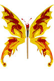 La pittura rossa e gialla ha fatto la farfalla Immagine Stock Libera da Diritti