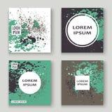 La pittura verde grigia pastello di esplosione schizza la progettazione artistica della copertura Immagini Stock Libere da Diritti
