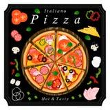 La pizza d'ensemble illustration stock