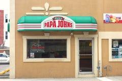 La pizza de Papa John images stock