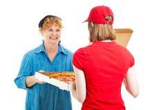 La pizza está aquí Fotos de archivo libres de regalías
