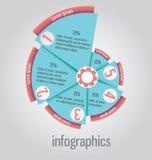 La pizza gradisce, torta come, il diagramma, può essere usato per il infographics, web royalty illustrazione gratis
