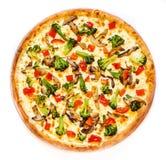 La pizza jugosa del Año Nuevo Fotos de archivo libres de regalías