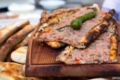 La pizza turca llamó Pide Foto de archivo libre de regalías