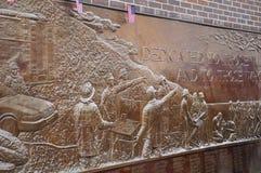 9 La placa conmemorativa de 11 bomberos Foto de archivo