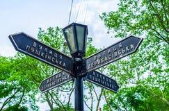 La placa de calle Fotografía de archivo libre de regalías