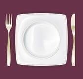 La placa de cena fijó 3 Imágenes de archivo libres de regalías