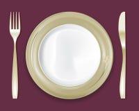 La placa de cena fijó 5 Imagen de archivo libre de regalías