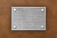 La placa de metal Foto de archivo libre de regalías