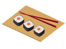 La placa de un japonés rueda o sushi Libre Illustration