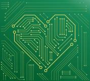 La placa madre del corazón ilustración del vector
