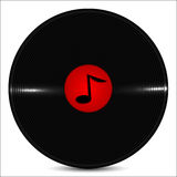 La placa musical es adornada por una nota Imagen de archivo libre de regalías