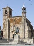 La place centrale de Trujillo photos libres de droits