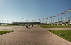 La place centrale du parc olympique Image libre de droits