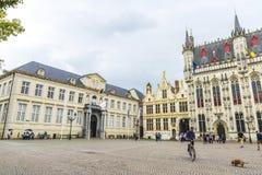 La place de Burg avec la ville hôtel à Bruges, Belgique photo libre de droits
