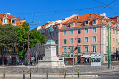 La place de Duque DA Terceira, Cais font Sodre, Lisbonne Photos libres de droits