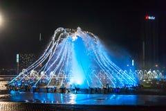 La place de fontaine de musique est à Dalian Photographie stock