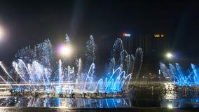 La place de fontaine de musique est à Dalian Photographie stock libre de droits