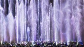La place de fontaine de musique est à Dalian Photo libre de droits