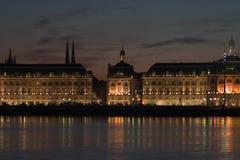 La place de l'échange courant en Bordeaux Image libre de droits