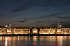 La place de l'échange courant en Bordeaux Images libres de droits