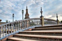 La place de l'Espagne en Séville Photographie stock libre de droits