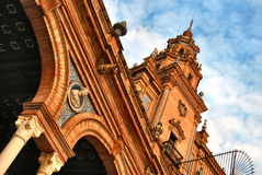La place de l'Espagne en Séville Photos stock