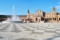 La place de l'Espagne en Séville Image libre de droits