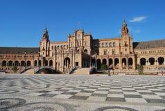 La place de l'Espagne en Séville Photo stock