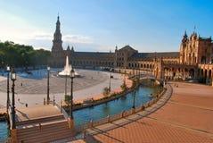 La place de l'Espagne en Séville Images stock