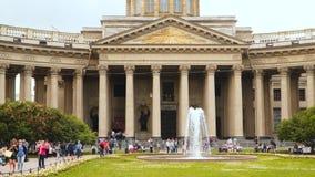 La place de la cathédrale de Kazan - la place à St Petersburg banque de vidéos