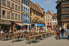 La Place de la Cathedrale in Strasbourg Stock Image