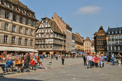 La Place de la Cathedrale in Strasbourg Stock Images