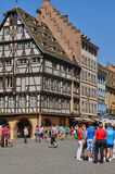 La Place de la Cathedrale in Strasbourg Royalty Free Stock Images
