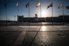 La place de Lisbonne symétrie portugal image libre de droits