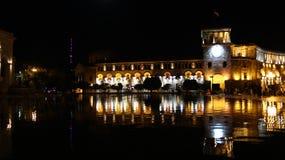 La place de République, fontaines de chant photographie stock libre de droits