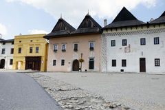 La place de Spisska Sobota Image stock