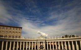 La place de St Peter à Rome Image libre de droits