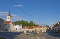 La place de trinité sainte dans Pozega Photo stock