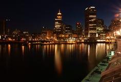 La place du Canada par nuit, Vancouver Image stock